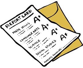 Straight-As-Report-Card