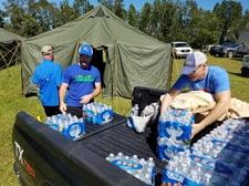 Hurricane Michael water station