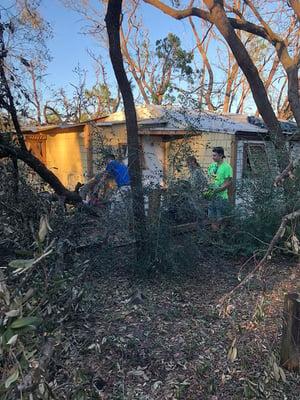 Hurricane Michael rescue team