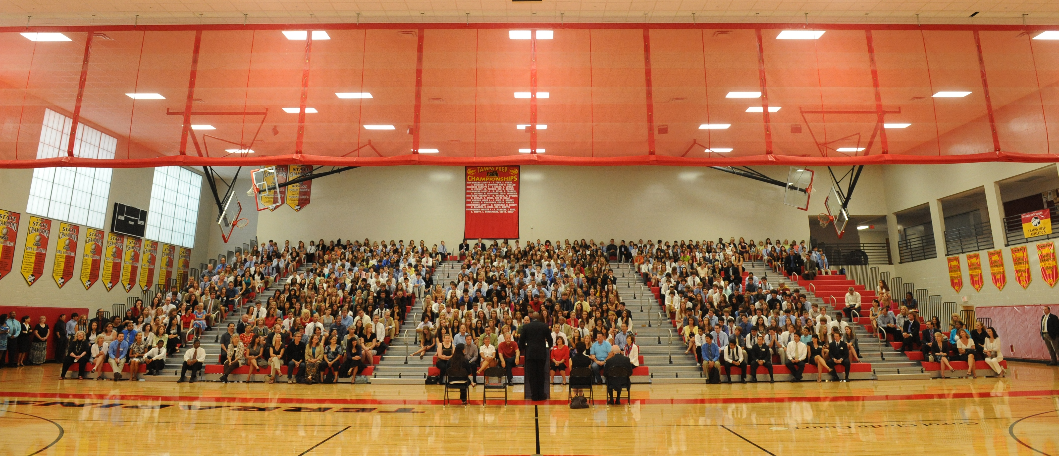 Opening Convocation in the gymnasium