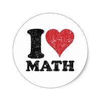 i_love_math_classic_round_sticker